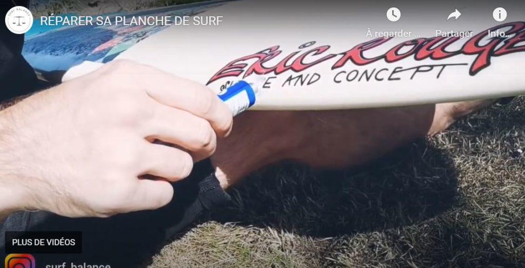 Appliquer résine solarez planche de surf