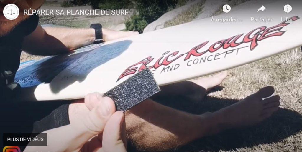 Poncer le pet sur sa planche de surf shaper