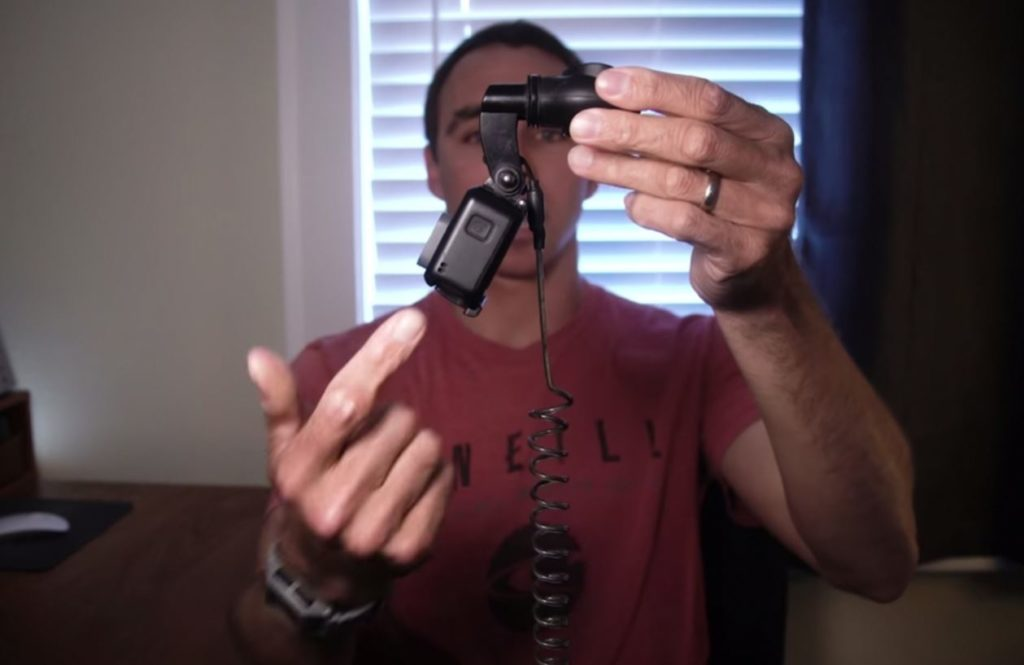 Position angle caméra go pro surf tube