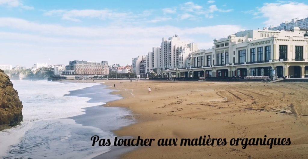 Ramassage de déchets collecte plage biarritz