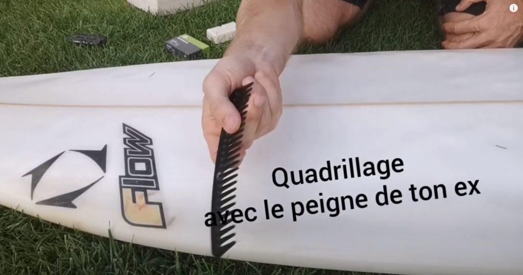quadrillage wax planche